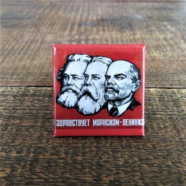 Karl Marx, Friedrich Engels, Lenin fridge magnet