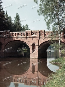Bridge across the pond in the Barvikha estate near Moscow.