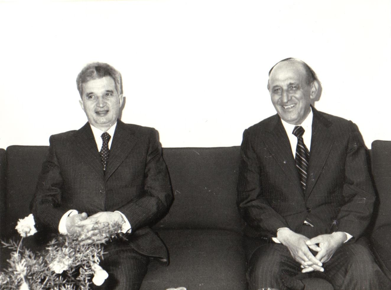 Todor Zhivkov Bulgaria with Caucescue