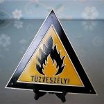 Hungarian 1960s Fire Hazard Warning Sign (1)