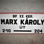 Hungary Karl Marx Streetsign (1)