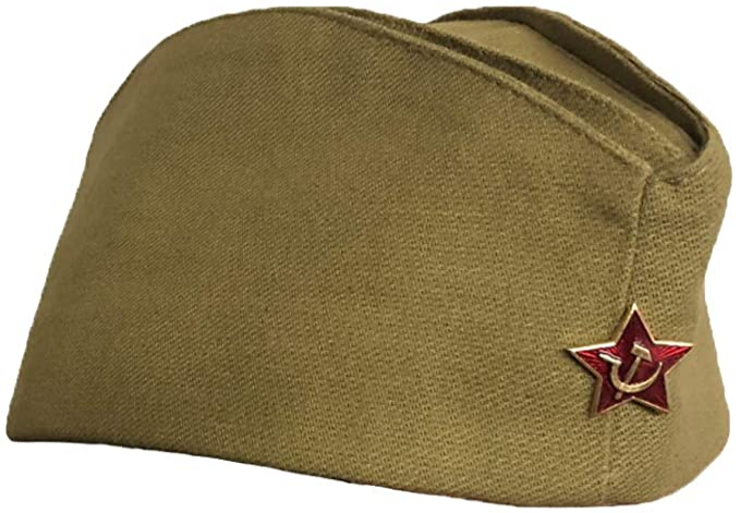 Screenshot_2020-12-29 Russian Army Soldier Pilotka Garrison Cap Hat Red Star Badge New 2 Sizes - beige, size 58 Amazon de B[...]
