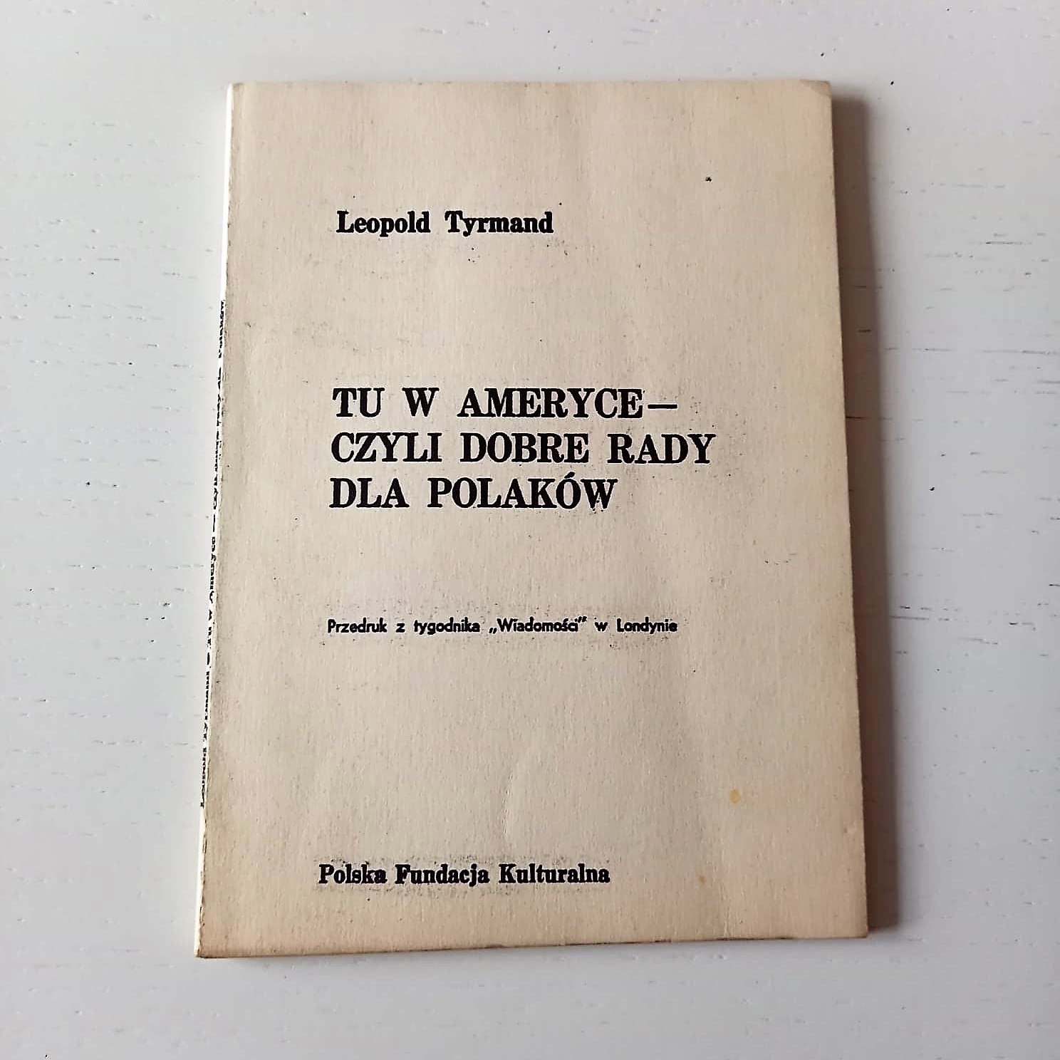 Book Poland Leopold Tyrmand (1)