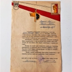 Document Poland Honored Soldier (1)