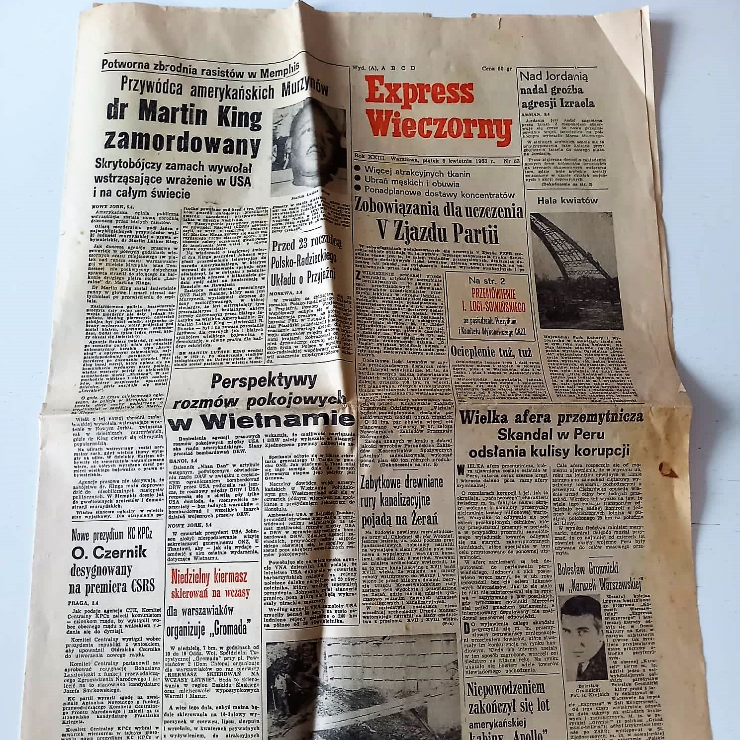 Newspaper poland Martin Luther King (1)