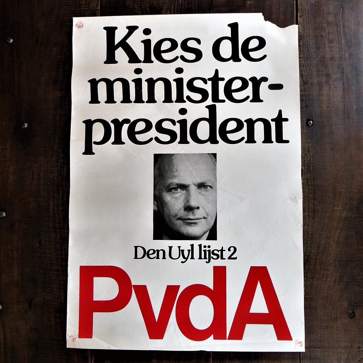 Poster PvdA Kies De Minister President