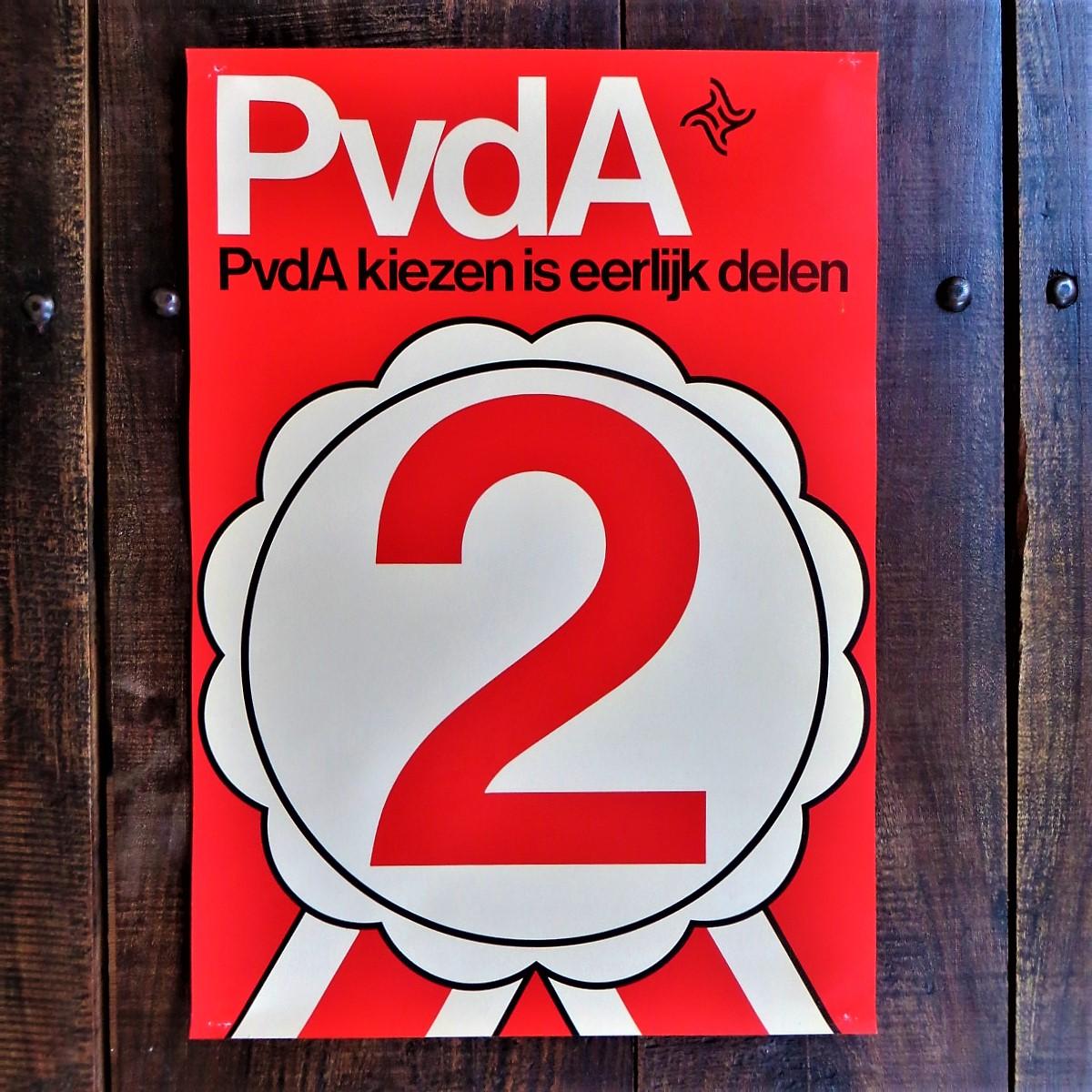 Poster PvdA Kiezen Is Eerlijk Delen