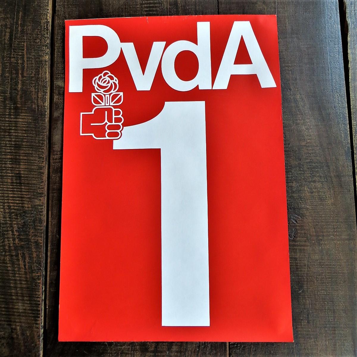 Poster PVDA Lijst 1