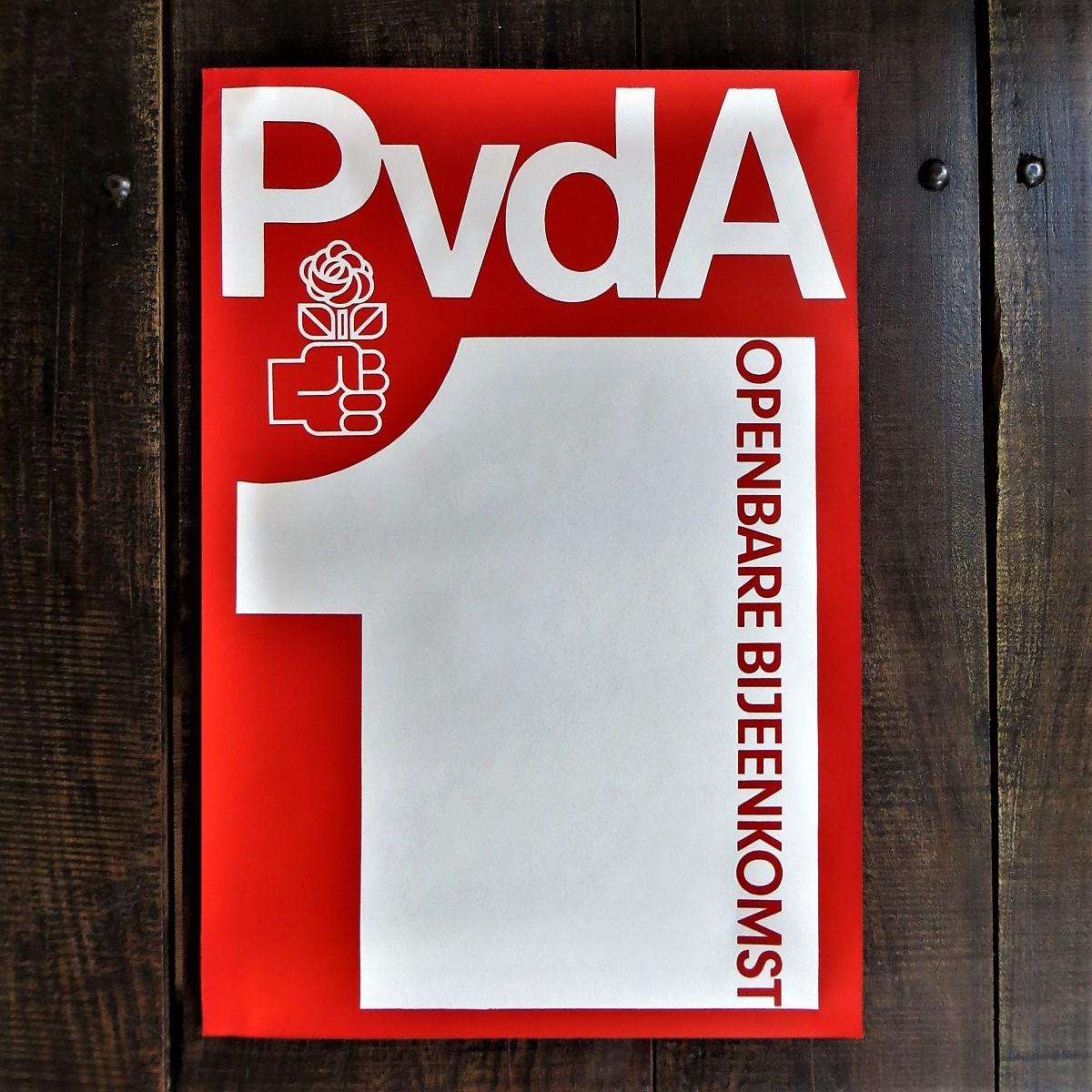 Poster PvdA Openbare Bijeenkomst