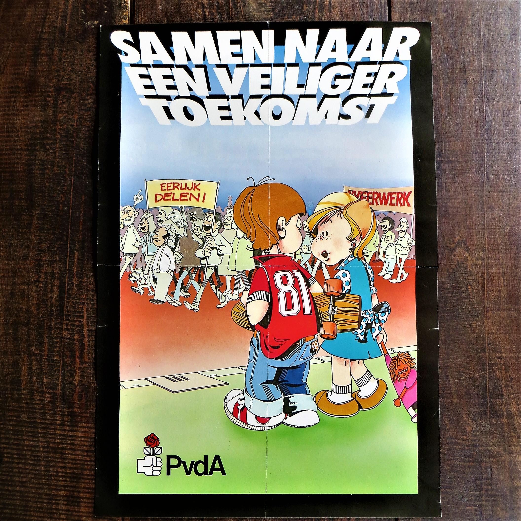 Poster PVDA Samen Naar Een Veiliger Toekomst