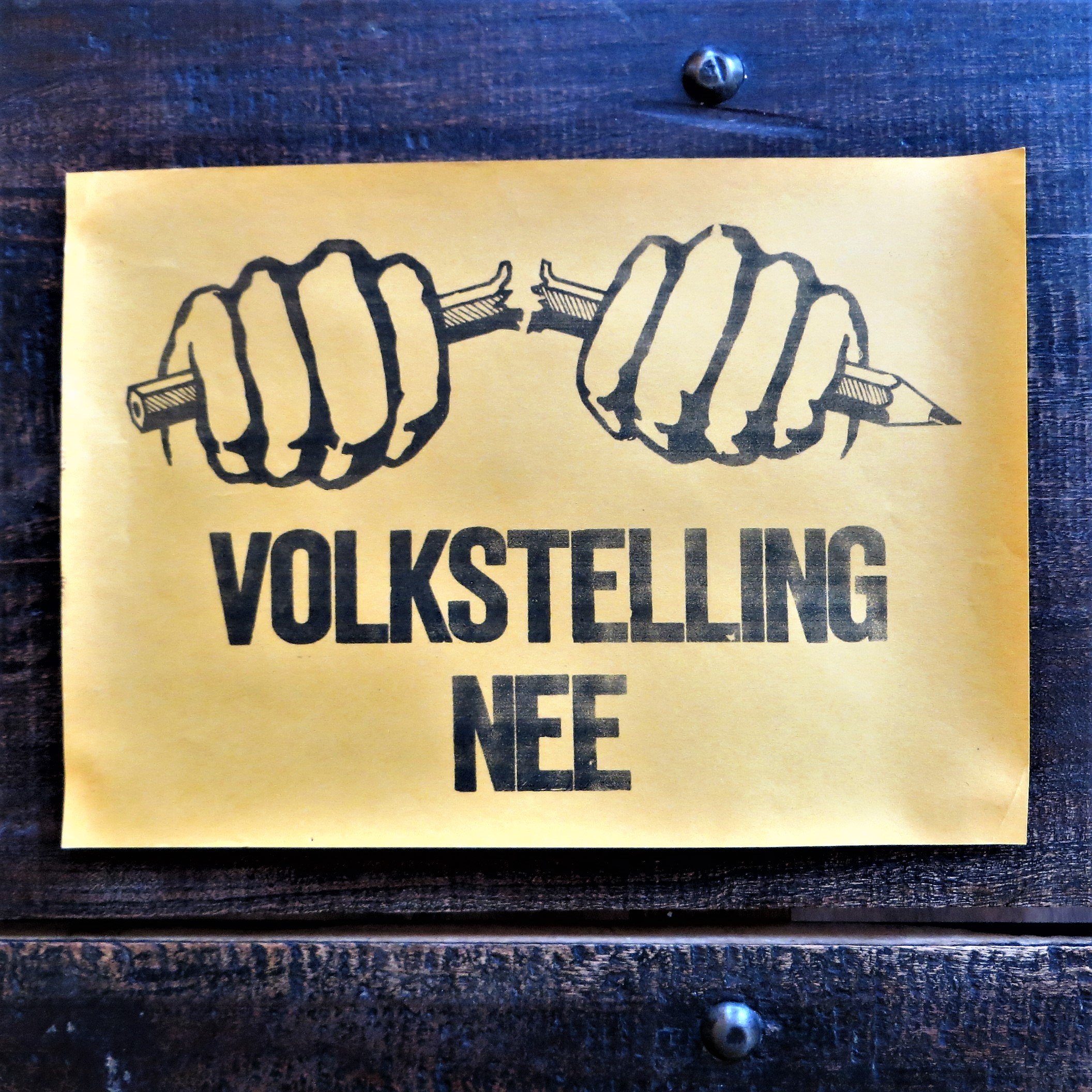 Poster Volkstelling Nee